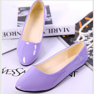 baratos Sapatos Femininos-FemininoArrendondado-Rasteiro-Preto / Azul / Amarelo / Rosa / Roxo / Vermelho / Branco / Bege-Courino-Casual
