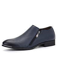 Bărbați Pantofi Piele Primăvară Toamnă Confortabili Mocasini & Balerini Plimbare Fermoar Pentru Casual Party & Seară Negru Albastru