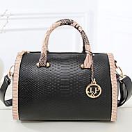 cheap Bags-Women's Bags PU Tote / Shoulder Bag Zipper Red / Blue / Pink