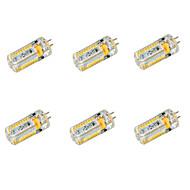 baratos Luzes LED de Dois Pinos-YWXLIGHT® 6pcs 6.5 W 650 lm G4 Lâmpadas Espiga T 72 Contas LED SMD 3014 Branco Quente / Branco Frio 12 V / 24 V / 6 pçs / RoHs