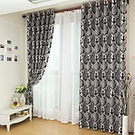 To paneler Window Treatment Moderne Soverom Polyester Materiale Blackout Gardiner Hjem Dekor For Vindu