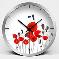 Moderne / Nutidig Blomst / Botanikk Karakterer Inspirerende Tegneserie Veggklokke,Rund Nyhet Glass Metall Innendørs Klokke