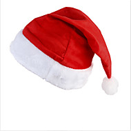 サンタクロースの衣装のための新たなサンタのベルベットの帽子クリスマスパーティー赤と白の帽子