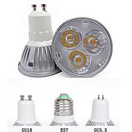 billige Spotlys med LED-3000/6500 lm GU10 GU5.3(MR16) E26/E27 LED-spotpærer MR16 3 leds Høyeffekts-LED Dekorativ Varm hvit Kjølig hvit AC 85-265V