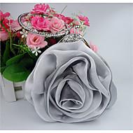 tanie Kopertówki i torebki wieczorowe-Damskie Torby Satyna Torebka wieczorowa Kwiat na Ślub Wydarzenie / impreza Na każdy sezon White Gray