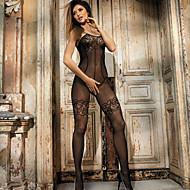 Ženy Prádlo s podvazky Ultra sexy Noční prádlo Jednobarevné Nylon Černá
