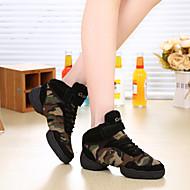 baratos Sapatilhas de Dança-Tênis de Dança Couro / Lona Têni Não Personalizável Sapatos de Dança Verde