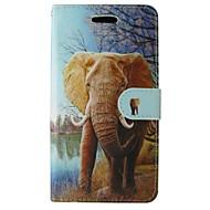 billiga Mobil cases & Skärmskydd-fodral Till Huawei P8 Övrigt Huawei Huawei P8 Lite P8 Lite P8 Huawei-fodral Korthållare Plånbok med stativ Fodral Elefant Hårt PU läder