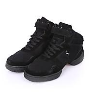 Dames Danssneaker Canvas Sneaker Buitenshuis Plat Zwart 3,5cm Aanpasbaar