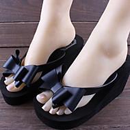 Damen Schuhe PVC Sommer Flacher Absatz Für Schwarz Rosa