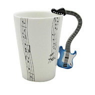cheap Drinkware-Music Guitar Cup Violin Ceramic Cup Porcelain Enamel Coffee Tea Mug Cup