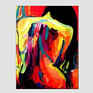 Handgeschilderde Abstracte portrettenModern / Europese Stijl Eén paneel Canvas Hang-geschilderd olieverfschilderij For Huisdecoratie