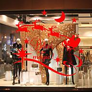 Zvíře Moderní Nálepka na okna Materiál dekorace oken