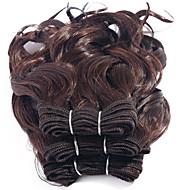 Gerçek Saç Düz Brezilya Saçı İnsan saç örgüleri Kıvırcık Kıvırcık Dalgalar Saç uzatma 3 Parça Siyah