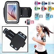 billiga Mobil cases & Skärmskydd-fodral Till Universal med fönster Armbindel Armband Ensfärgat Mjukt Textil för S5 S4 Note 4 Note 3 Lite Note 3 Note 2 Note Edge