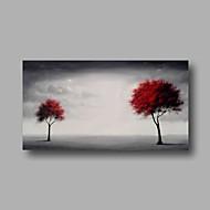 billiga Topp Konstnär-Hang målad oljemålning HANDMÅLAD - Blommig / Botanisk Moderna Duk