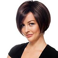 Žene Ljudski kose bez kaplama Ravan kroj Stražnji dio Bob frizura Sa šiškama Kratko 6/30 6/613 10/613 6 / 99J 30/613
