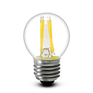 4 W LED filament žarulje 380 lm E14 E12 E26 / E27 G45 4 LED zrnca COB Zatamnjen Toplo bijelo 220-240 V 110-130 V, 1pc / 1 kom. / RoHs / LVD