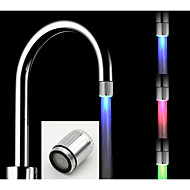 cheap Kitchen Faucets-Contemporary Deck Mounted LED Brushed, Kitchen faucet
