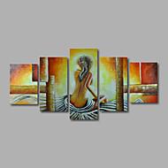 hesapli Artist - Zhuo-El-Boyalı Çıplak herhangi Şekli, Modern Tuval Hang-Boyalı Yağlıboya Resim Ev dekorasyonu Beş Panelli