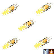 YWXLight® 3W G4 LED Bi-pin Lights MR11 2 COB 200-300 lm Warm White Cold White Decorative DC 12 AC 12 DC 24 AC 24 V 5pcs