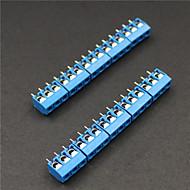 3 pin 5.0mm terminal blokları konnektörleri - mavi (10 parça)