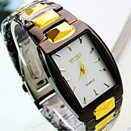 Homens Relógio de Pulso Quartzo Relógio Casual Aço Inoxidável Banda Amuleto Preta