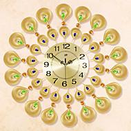 Rund / Nyhet Moderne / Nutidig Wall Clock , Blomst / Botanikk / Dyr / Naturskjønn / Bryllup / Familie Glass / MetallS:54cm x 54cm( 21in x
