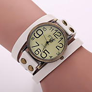 Mulheres Relógio de Moda Quartzo PU Banda Vintage Boêmio Preta Branco Azul Vermelho Laranja Marrom Verde