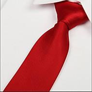 Bărbați Solid Toate Sezoanele Vintage Petrecere Birou Casual Cravată Rosu