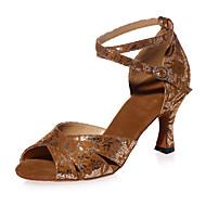 Chaussures de danse(Noir / Bleu / Rouge / Argent / Or) -Personnalisables-Talon Personnalisé-Paillette Brillante-Latine / Salsa , silver , us6.5-7 / eu37 / uk4.5-5 / cn37