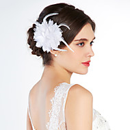 cheap Wedding Headpieces-Crystal Fabric Tiaras Flowers 1 Wedding Special Occasion Party / Evening Outdoor Headpiece