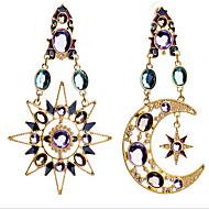 Žene MOON Kubični Zirconia Pozlaćeni Imitacija dijamanta Viseće naušnice - Luksuz Europska zaslon u boji Naušnice Za