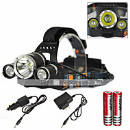 cheap Flashlights & Camping Lanterns-SHP-08202 Headlamps LED 6000 lm 1 Mode LED with Charger Zoomable Rechargeable Waterproof Super Light Camping/Hiking/Caving Everyday Use
