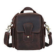 Men Bags Cowhide Shoulder Bag for Shopping Casual Sports Outdoor Office & Career Spring Summer Fall All Seasons Brown