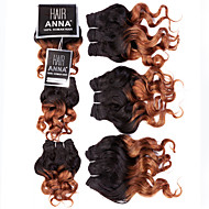 "Two Tone Brazilian Weave Hair Virgin Human Hair Bundles Brazilian Ombre Hair pcs 8"" 105g/lot"
