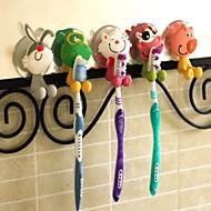 Suportes de escova de dentes de plástico em forma de animal (cor aleatória)