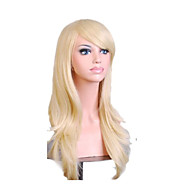 cheap Wigs & Hair Pieces-Synthetic Wig Curly With Bangs Blonde Women's Capless Synthetic Hair