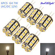 4W G4 LED Corn Lights T 27 SMD 5050 250-300 lm Warm White Cold White 3000/6000 K Decorative DC 12 AC 12 V