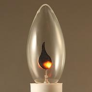 baratos Incandescente-1pç 3 E14 C32 Branco Quente 2300 K Incandescente Vintage Edison Light Bulb AC 220V AC 220-240V V