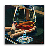 IARTS®Still Life Oil Paintings Red Wine Cup on Desk Wall Art Oil Paintings