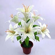 7 hodestammen starfighter stargazer lily bun kunstige blomster hjemme dekorasjon