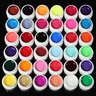 36solid ren glitter mix farge manikyr spiker kunst uv gel byggmester innredning satt ny