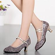 billige Moderne sko-Dame Moderne sko Syntetisk Høye hæler Gummi / Spenne Kustomisert hæl Kan spesialtilpasses Dansesko Sølv / Blå / Gull / Innendørs