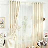 "cheap Curtains & Drapes-Eco-friendly Curtains Drapes Two Panels 2*(72W×84""L) / Embroidery / Bedroom"