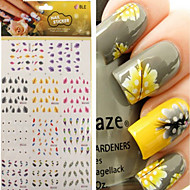 1 pcs 3D Negle Stickers Negle Smykker Vandoverførings klistermærke Negle kunst Manicure Pedicure Punk / Mode Daglig / PVC / Negle smykker / 3D Nail Stickers