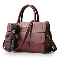 Women Bags PU Tote Rivet for Shopping Casual Formal Outdoor Office & Career All Seasons Black Dark Blue Brown Red Wine