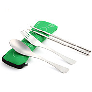 cheap Camp Kitchen-AOTU Chopsticks Sets Portable Stainless Steel Outdoor for Camping / Hiking Yellow Red Blue Pink Light Green