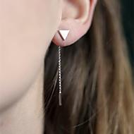Žene Viseće naušnice - Simple Style Europska Zlato Pink Háromszög Naušnice Za Dnevno Kauzalni