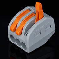 100pcs  PCT-213  400V/4KV/32A  Universal  Connector   0.08-2.5mm² Single/0.08-4.0mm² Multi Wire 9-10mm Stripping Length